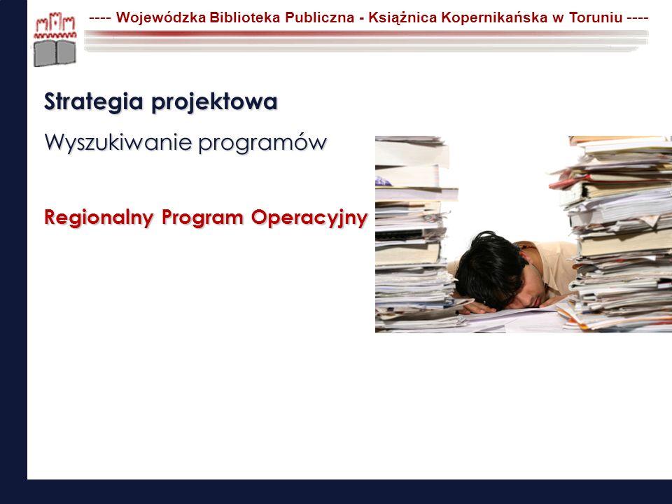 Strategia projektowa Wyszukiwanie programów Regionalny Program Operacyjny