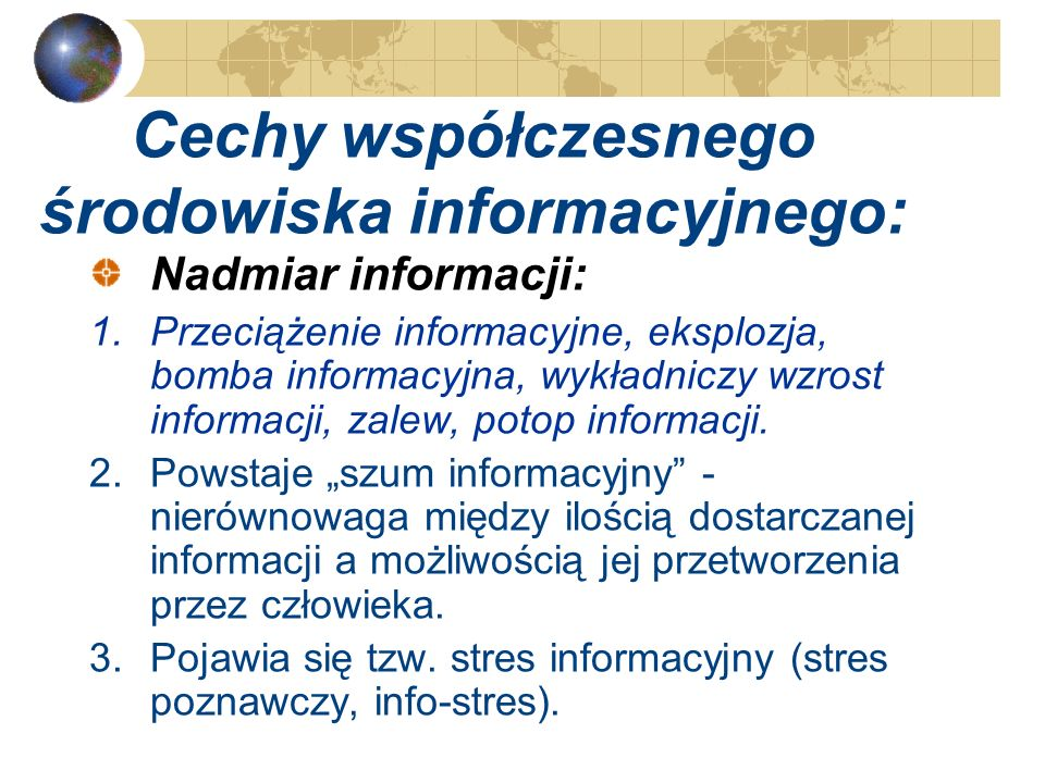 Ekologia informacji – sposób na choroby informacyjne? Ewa Głowacka UMK