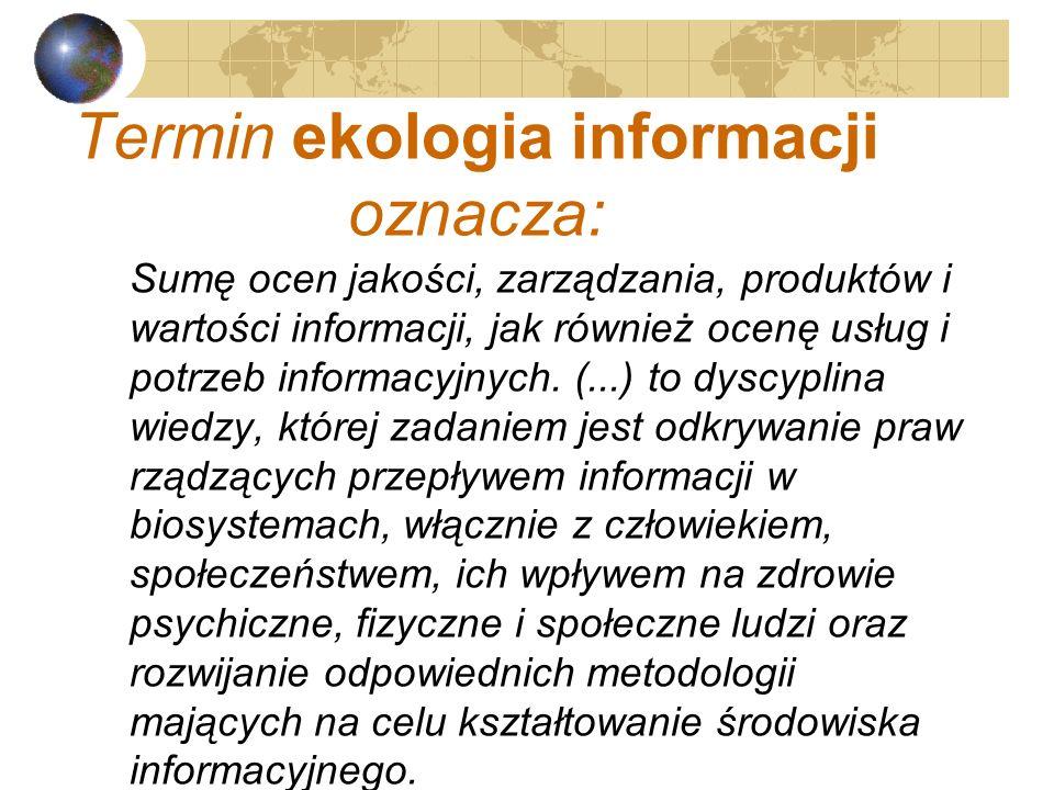 Twórca założeń profilaktyki informacyjnej oraz ekologii informacji – Aleksiej Eryomin W 1981 r. ukończył AM w Saint-Petersburgu Obecnie członek Britis