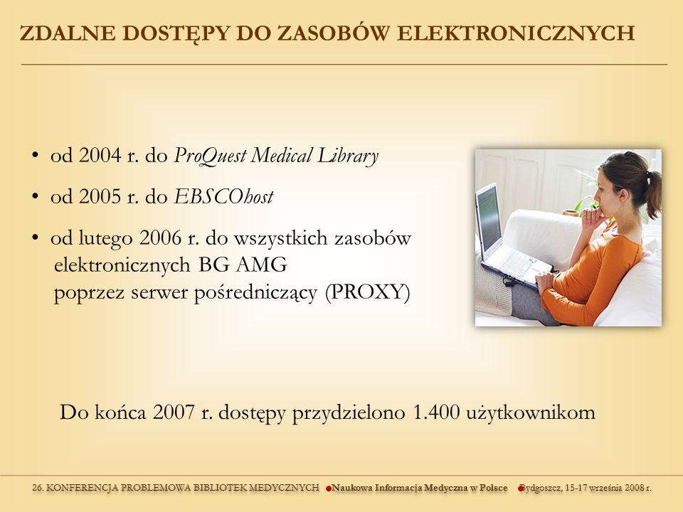 ZDALNE DOSTĘPY DO ZASOBÓW ELEKTRONICZNYCH od 2004 r.
