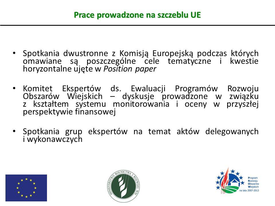Prace prowadzone na szczeblu UE Spotkania dwustronne z Komisją Europejską podczas których omawiane są poszczególne cele tematyczne i kwestie horyzonta