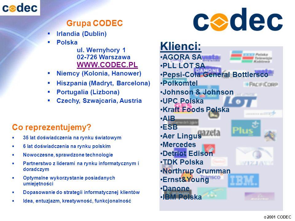 © 2001 CODEC Warszawa Grupa CODEC Irlandia (Dublin) Polska ul.