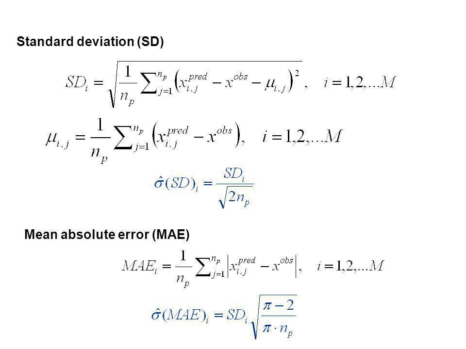 Standard deviation (SD) Mean absolute error (MAE)