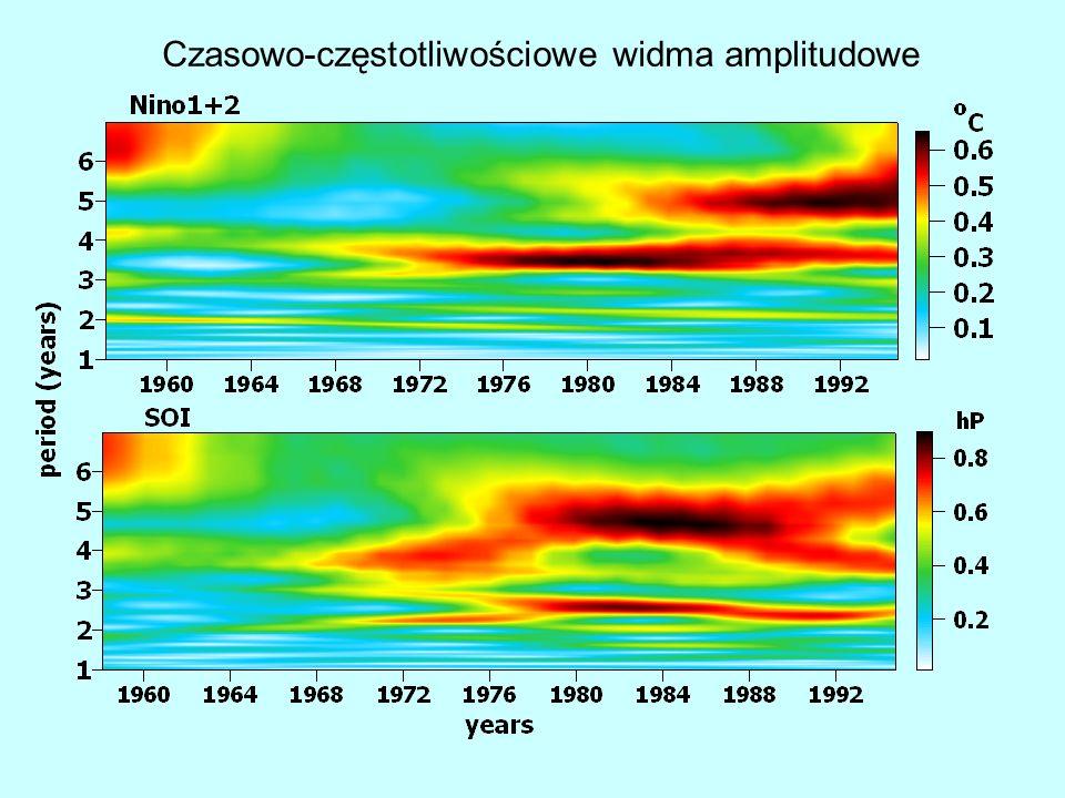 Czasowo-częstotliwościowe widma amplitudowe