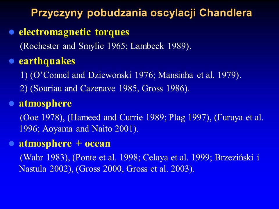 Zmienna oscylacja roczna atmosferyczno– oceanicznej funkcji pobudzenia źródłem pobudzania oscylacji Chandlera we współrzędnych bieguna ziemskiego Kose