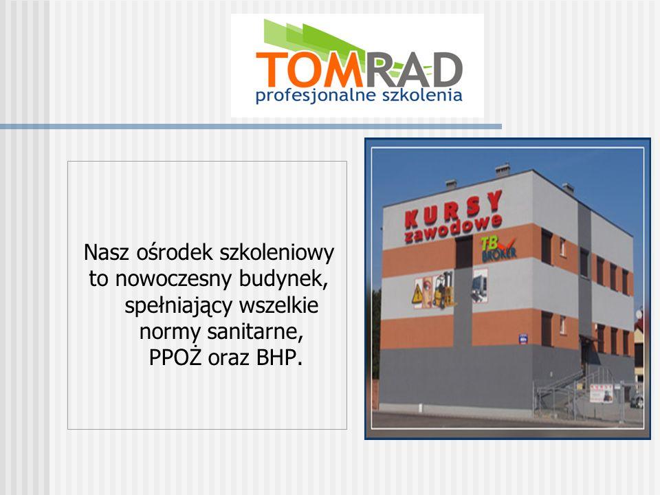 Nasz ośrodek szkoleniowy to nowoczesny budynek, spełniający wszelkie normy sanitarne, PPOŻ oraz BHP.