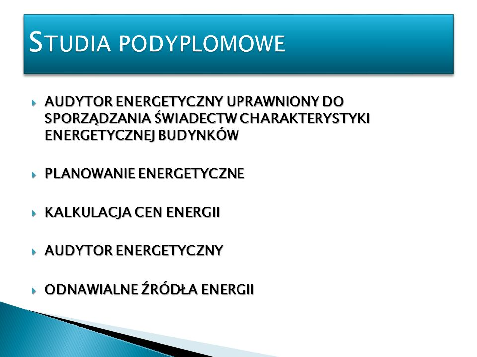 AUDYTOR ENERGETYCZNY UPRAWNIONY DO SPORZĄDZANIA ŚWIADECTW CHARAKTERYSTYKI ENERGETYCZNEJ BUDYNKÓW AUDYTOR ENERGETYCZNY UPRAWNIONY DO SPORZĄDZANIA ŚWIAD