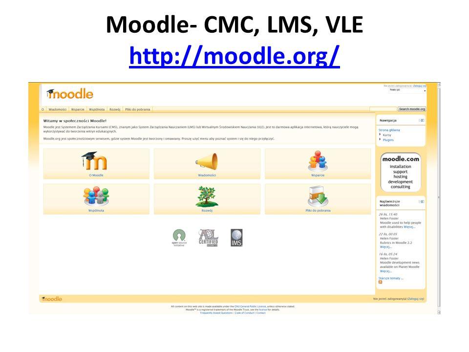 Moodle- CMC, LMS, VLE http://moodle.org/ http://moodle.org/