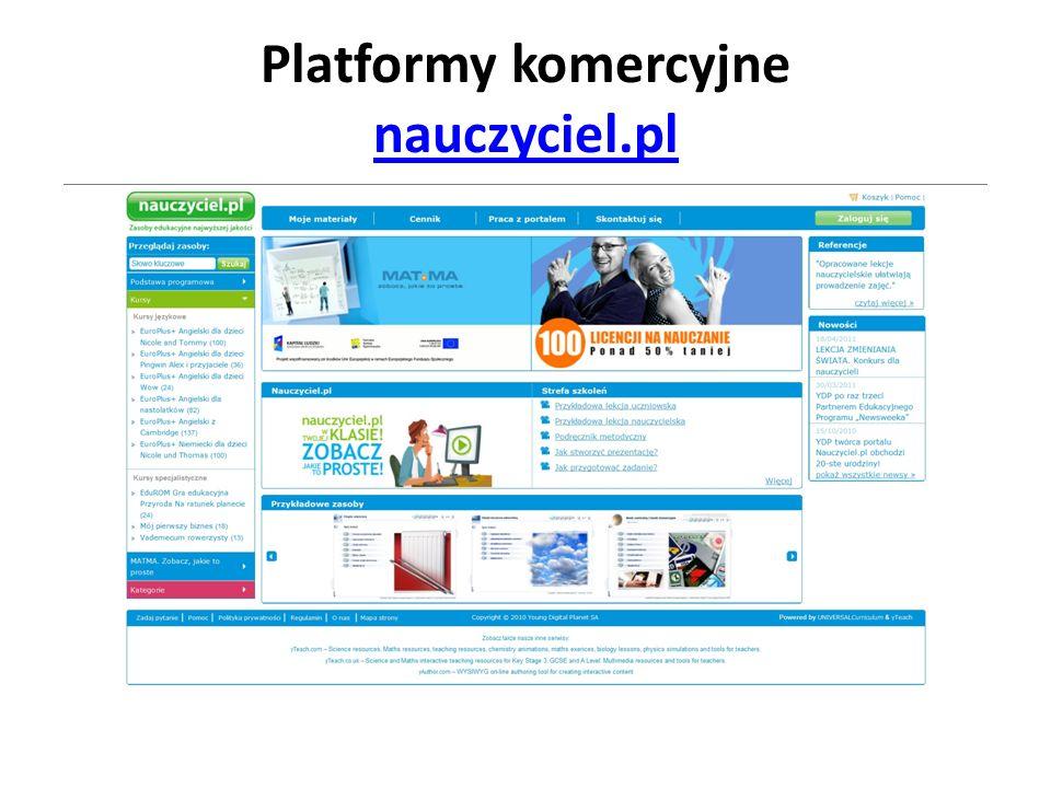 Platformy komercyjne nauczyciel.pl nauczyciel.pl