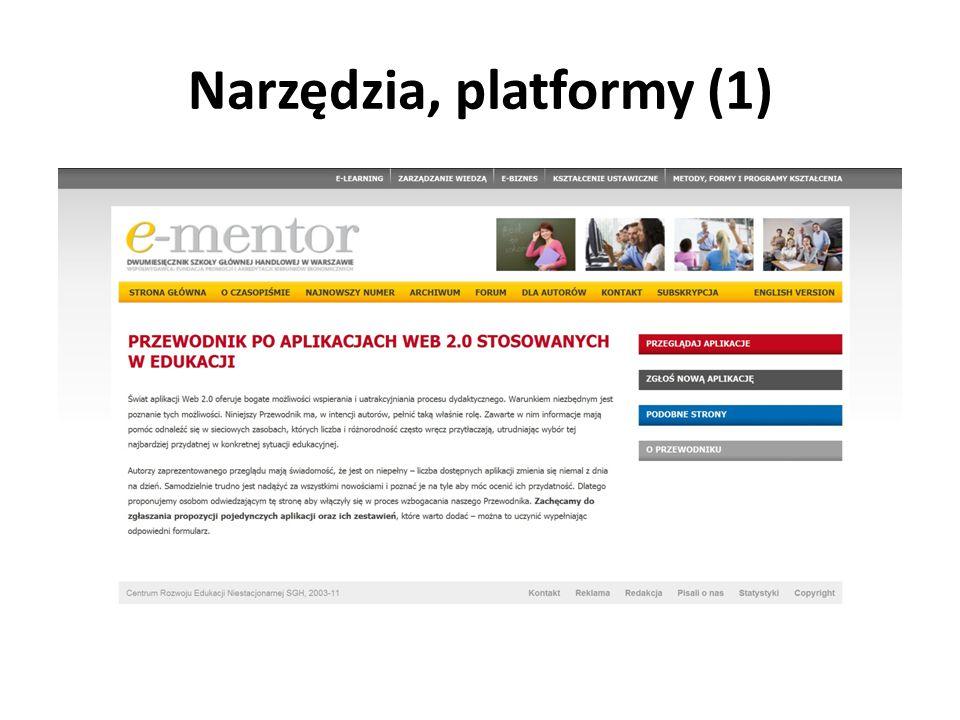 Narzędzia, platformy (1)
