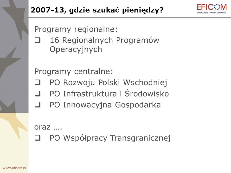 2007-13, gdzie szukać pieniędzy.