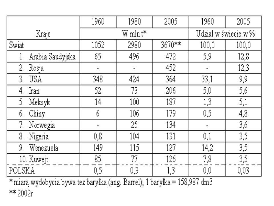 Kraje 1990 2004 W mln tUdział w świecie w % Świat1 1431 817*100 1.Chiny21093940 2.Indie461246,2 3.USA71954,9 4.Japonia84684 5.Korea Pd.40573,1 POLSKA1212,60,6 *2002