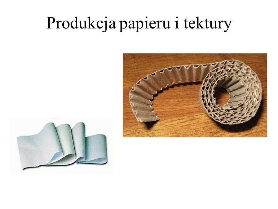 Produkcja papieru i tektury