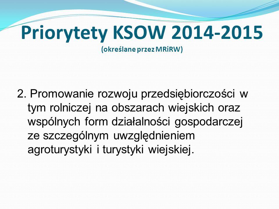 3.Promocja zrównoważonego rozwoju obszarów wiejskich 4.Zwiększenie konkurencyjności polskiego rolnictwa i obszarów wiejskich poprzez wzmocnienie i rozwój powiązań partnerów i promocję współpracy partnerów społeczno-gospodarczych przy wykorzystaniu narzędzi internetowych.