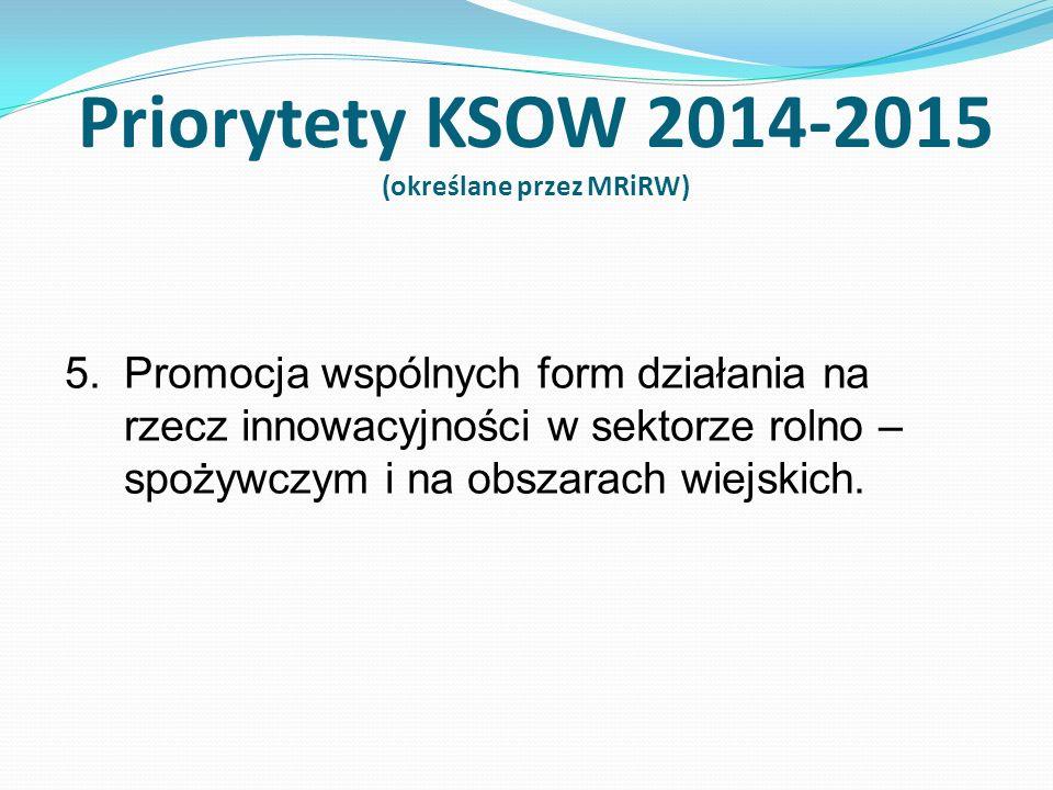 Plan Działania KSOW 2014-2015 działania horyzontalne i indykatywny budżet