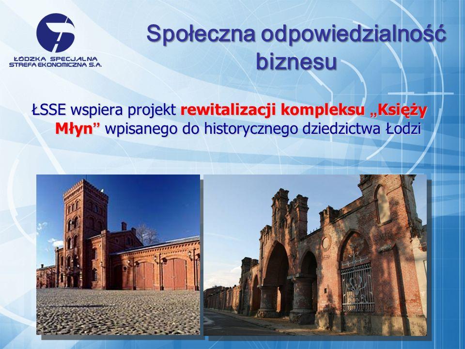 ŁSSE wspiera projekt rewitalizacji kompleksu Księży Młyn wpisanego do historycznego dziedzictwa Łodzi Społeczna odpowiedzialność biznesu