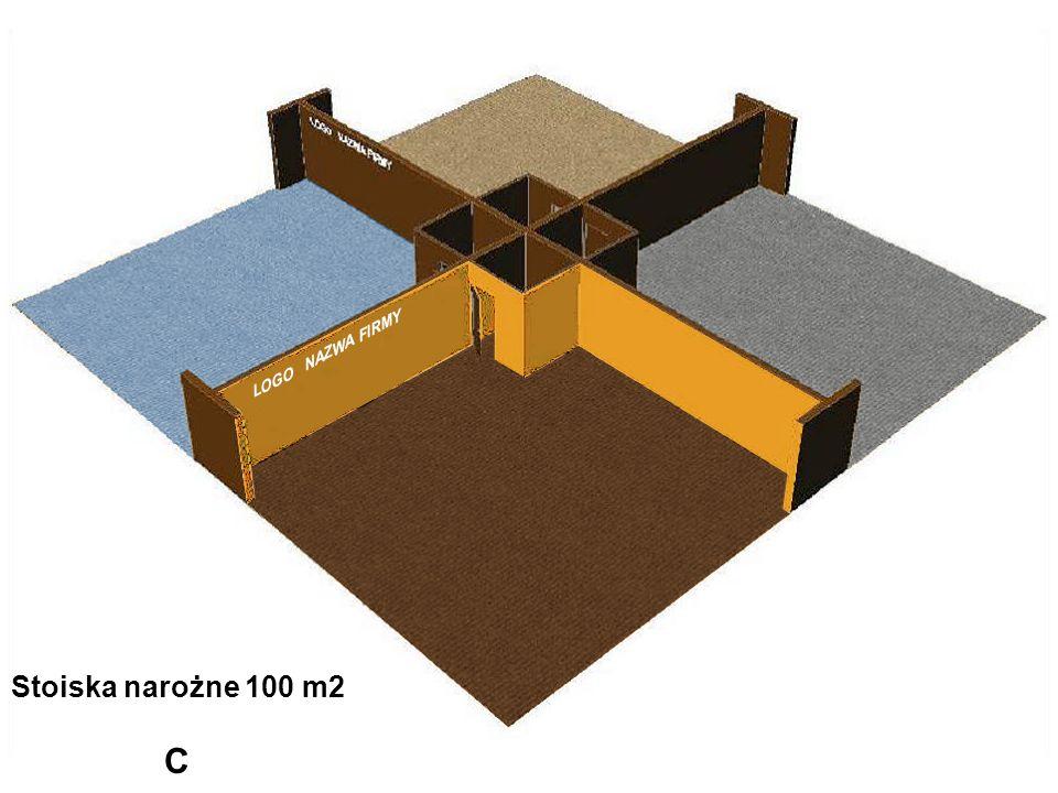 Stoiska narożne 100 m2 C