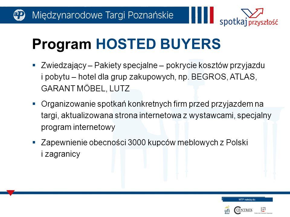 Program HOSTED BUYERS Zwiedzający – Pakiety specjalne – pokrycie kosztów przyjazdu i pobytu – hotel dla grup zakupowych, np.