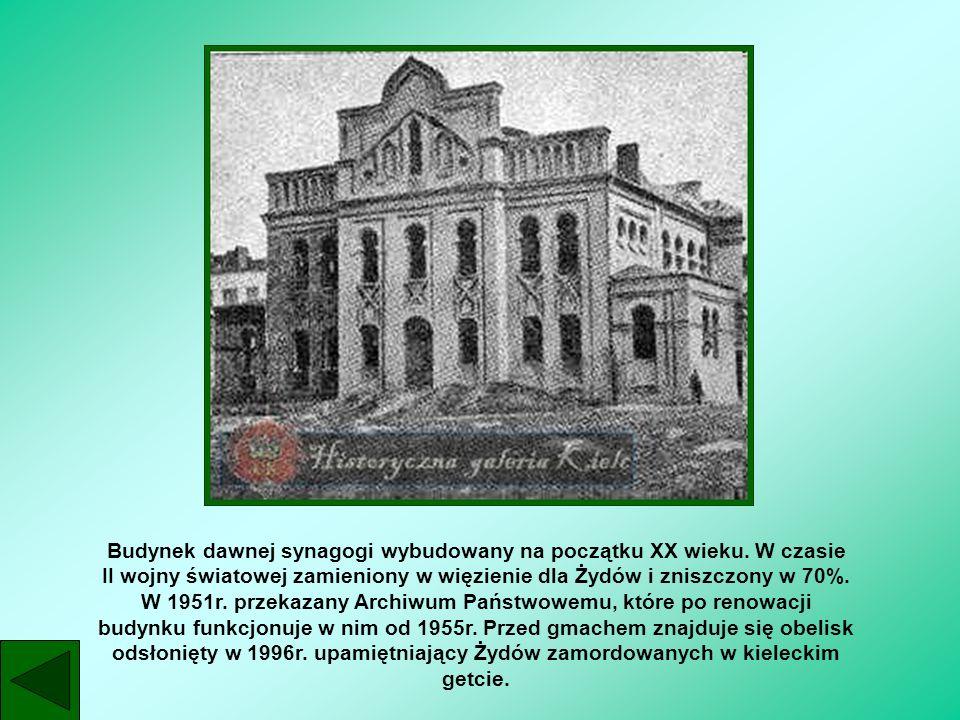 Budynek dawnej synagogi wybudowany na początku XX wieku. W czasie II wojny światowej zamieniony w więzienie dla Żydów i zniszczony w 70%. W 1951r. prz
