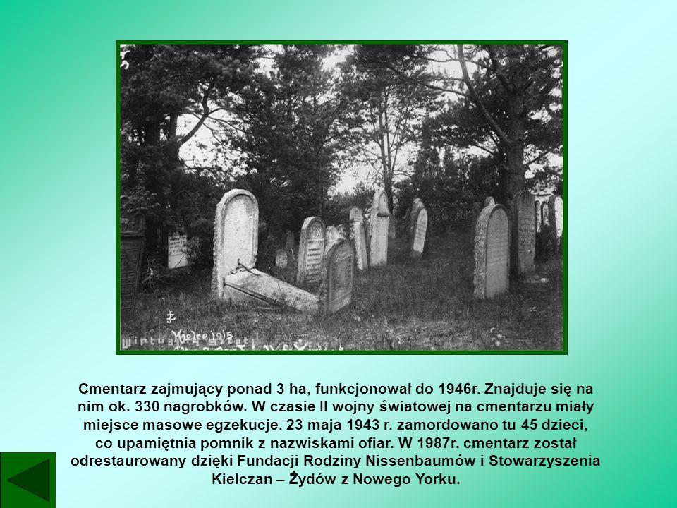Cmentarz zajmujący ponad 3 ha, funkcjonował do 1946r. Znajduje się na nim ok. 330 nagrobków. W czasie II wojny światowej na cmentarzu miały miejsce ma