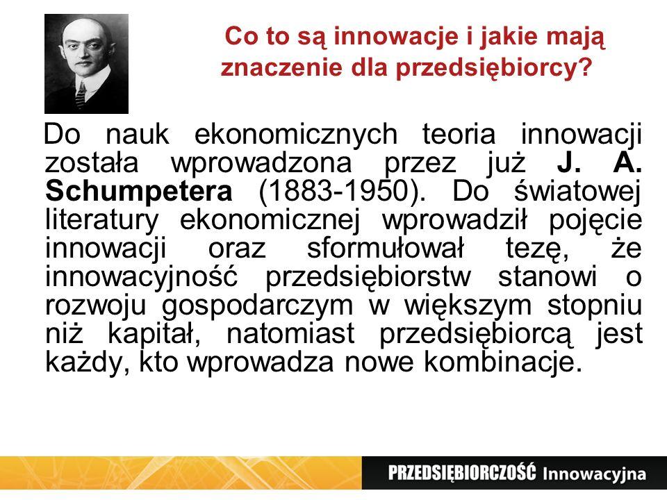 Co to są innowacje i jakie mają znaczenie dla przedsiębiorcy? Do nauk ekonomicznych teoria innowacji została wprowadzona przez już J. A. Schumpetera (