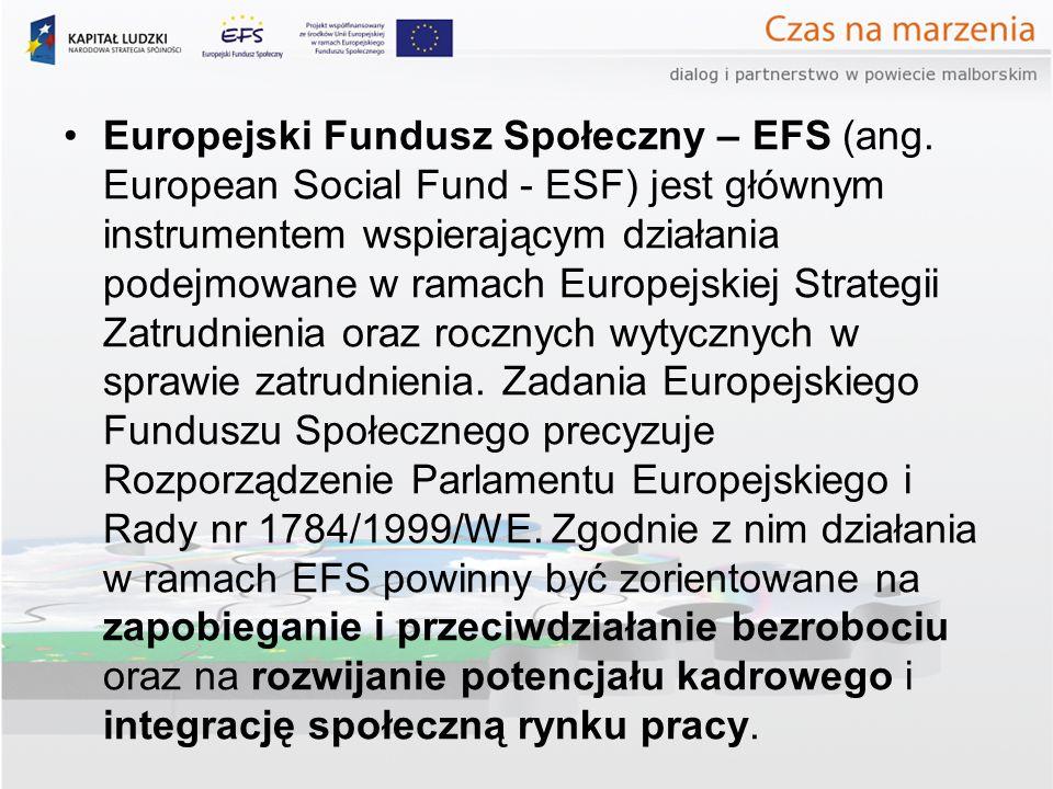 Europejski Fundusz Społeczny – EFS (ang.