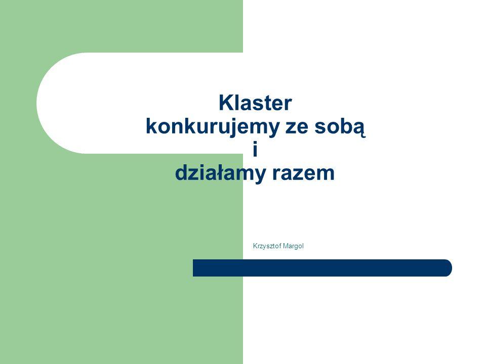 Klaster - przykład Dolina Lotnicza (podmiot kluczowy WSK Rzeszów, koordynacja - stowarzyszenie) Kotły w Pleszewie Jachty w Gdańsku Wielkopolski Klaster Meblarski