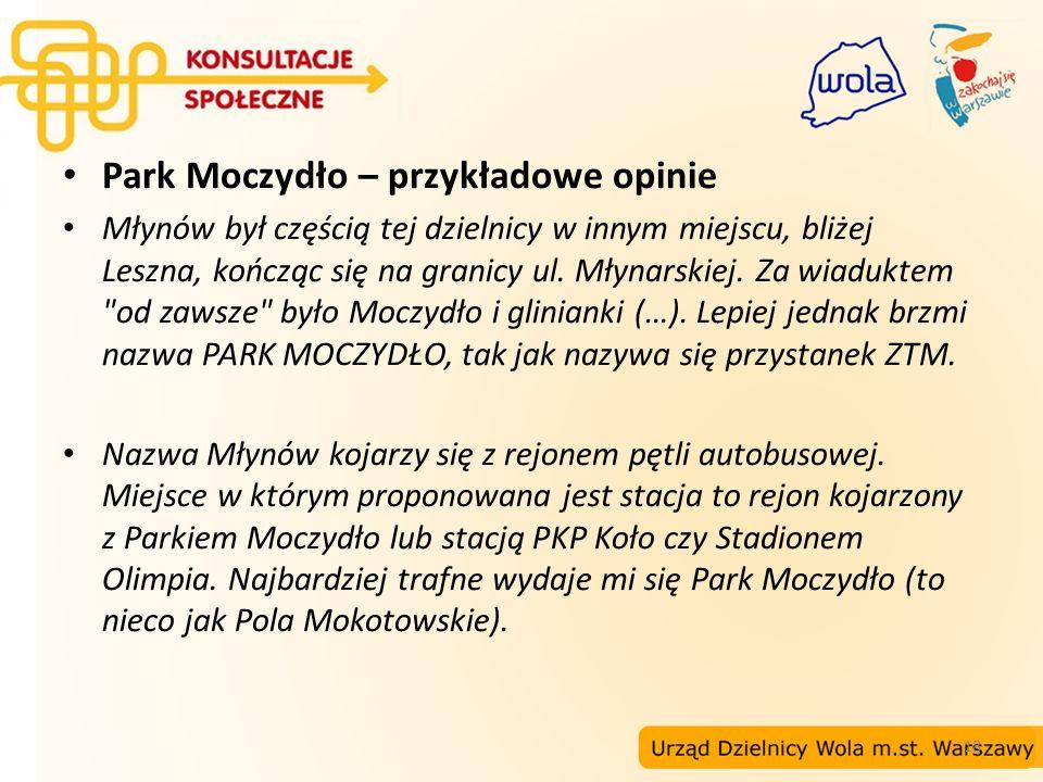 18 Park Moczydło – przykładowe opinie Młynów był częścią tej dzielnicy w innym miejscu, bliżej Leszna, kończąc się na granicy ul. Młynarskiej. Za wiad
