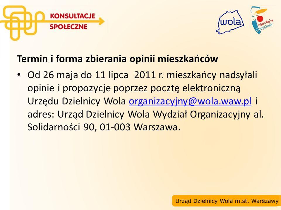 16 Propozycje nazw stacji II linii metra na Woli Lokalizacja: między ul.