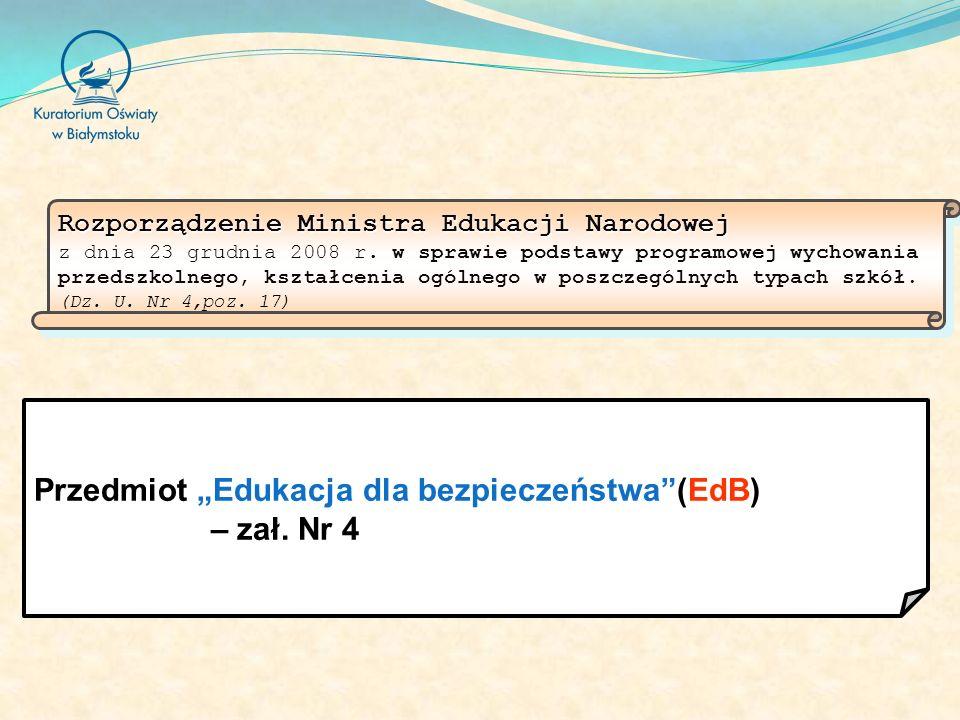 Rozporządzenie Ministra Edukacji Narodowej Rozporządzenie Ministra Edukacji Narodowej z dnia 23 grudnia 2008 r.