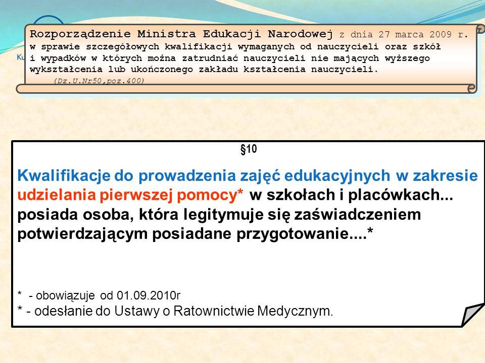 Rozporządzenie Ministra Edukacji Narodowej Rozporządzenie Ministra Edukacji Narodowej z dnia 27 marca 2009 r.