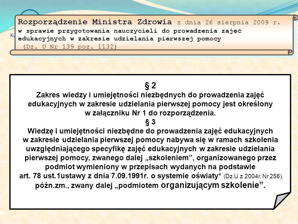 Ustawa Ustawa z dnia 8 września 2006 r. o Państwowym Ratownictwie Medycznym (Dz.U.06.191.1410) Art. 3.7. Pierwsza pomoc – zespół czynności podejmowany