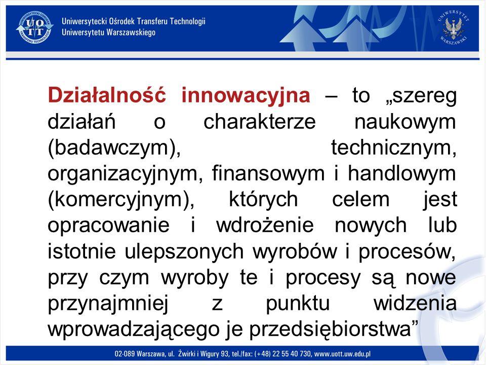 Działalność innowacyjna – to szereg działań o charakterze naukowym (badawczym), technicznym, organizacyjnym, finansowym i handlowym (komercyjnym), któ