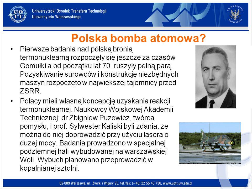 Polska bomba atomowa? Pierwsze badania nad polską bronią termonuklearną rozpoczęły się jeszcze za czasów Gomułki a od początku lat 70. ruszyły pełną p
