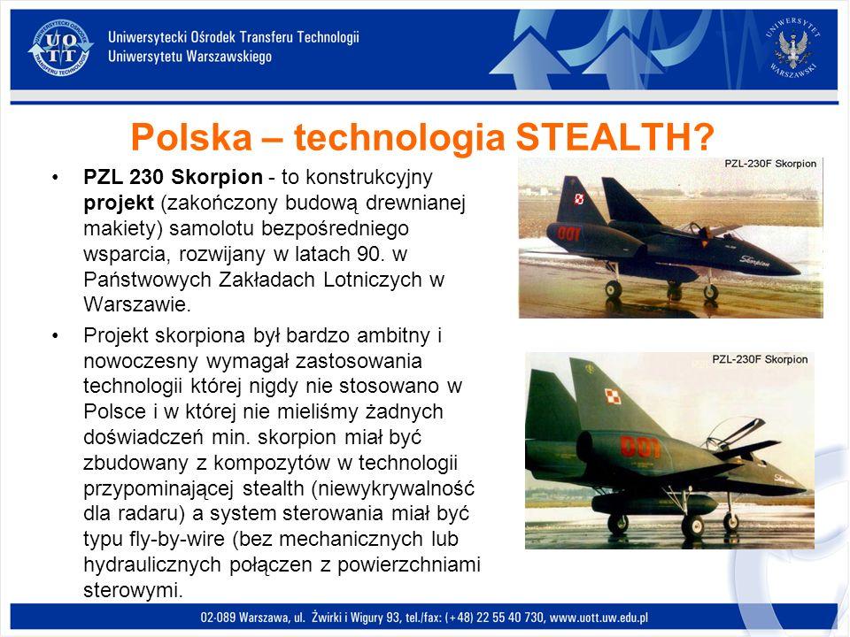Polska – technologia STEALTH? PZL 230 Skorpion - to konstrukcyjny projekt (zakończony budową drewnianej makiety) samolotu bezpośredniego wsparcia, roz