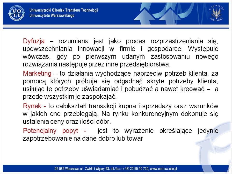 Cele polityki innowacyjnej w Polsce Kierunki zwiększania innowacyjności gospodarki na lata 2007-2013 Ministerstwo Gospodarki Kierunek działań: Kadra dla nowoczesnej gospodarki Obszar 1: Rozwijanie kształcenia ustawicznego Obszar 2: Transfer wiedzy pomiędzy sferą B+R a przedsiębiorcami poprzez wymianę kadr Obszar 4: Promocja przedsiębiorczości i innowacyjności Obszar 3: Innowacyjność elementem systemu kształcenia dostosowanego do wymogów nowoczesnej gospodarki