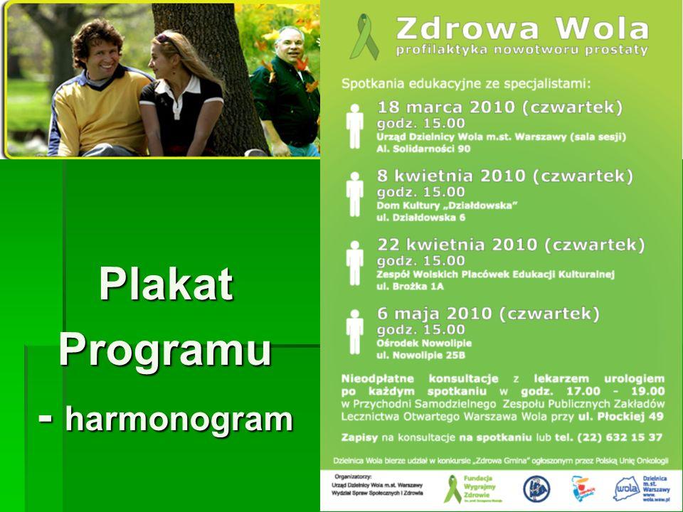 PlakatProgramu - harmonogram