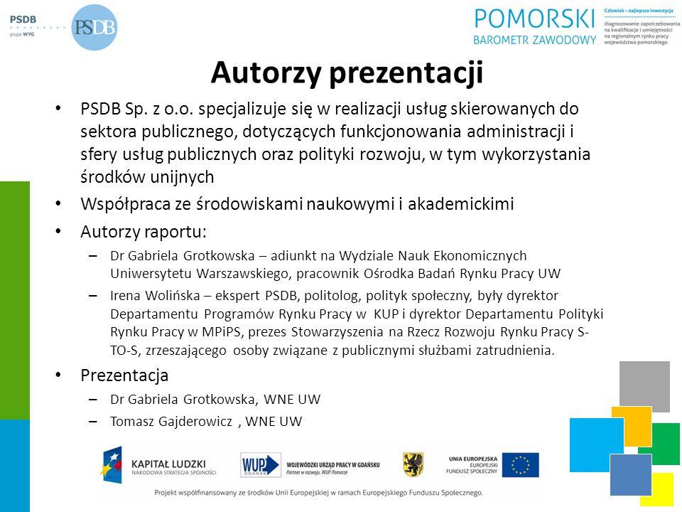 Autorzy prezentacji PSDB Sp. z o.o. specjalizuje się w realizacji usług skierowanych do sektora publicznego, dotyczących funkcjonowania administracji