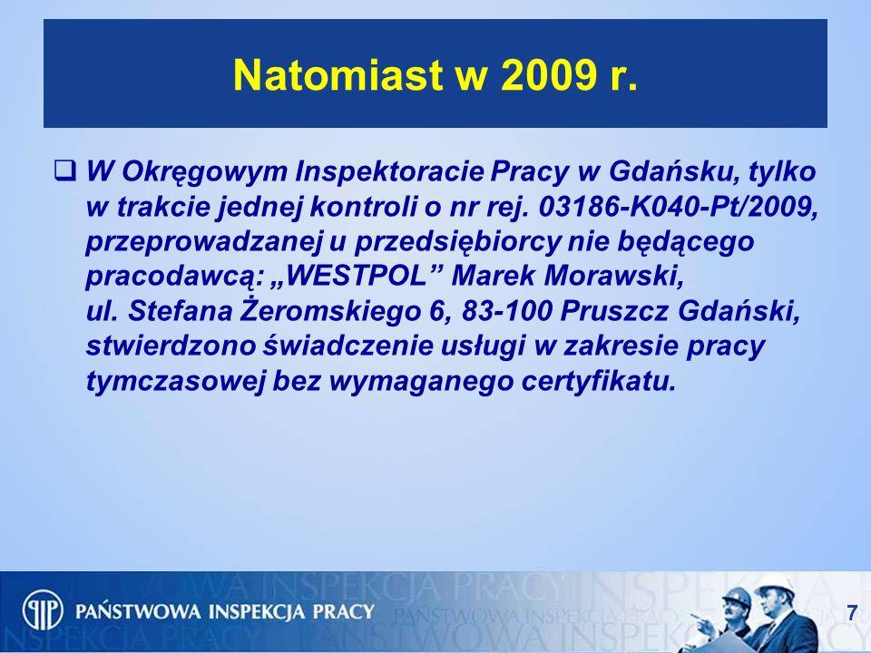 Natomiast w 2009 r.