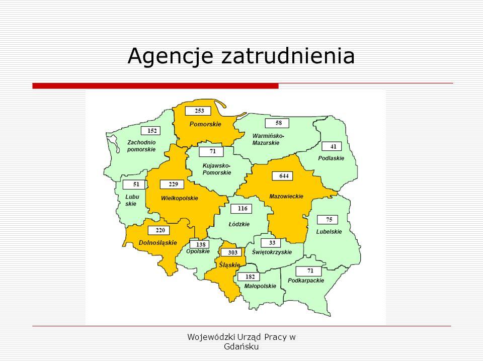 Wojewódzki Urząd Pracy w Gdańsku Agencje zatrudnienia Na koniec 2006 r.