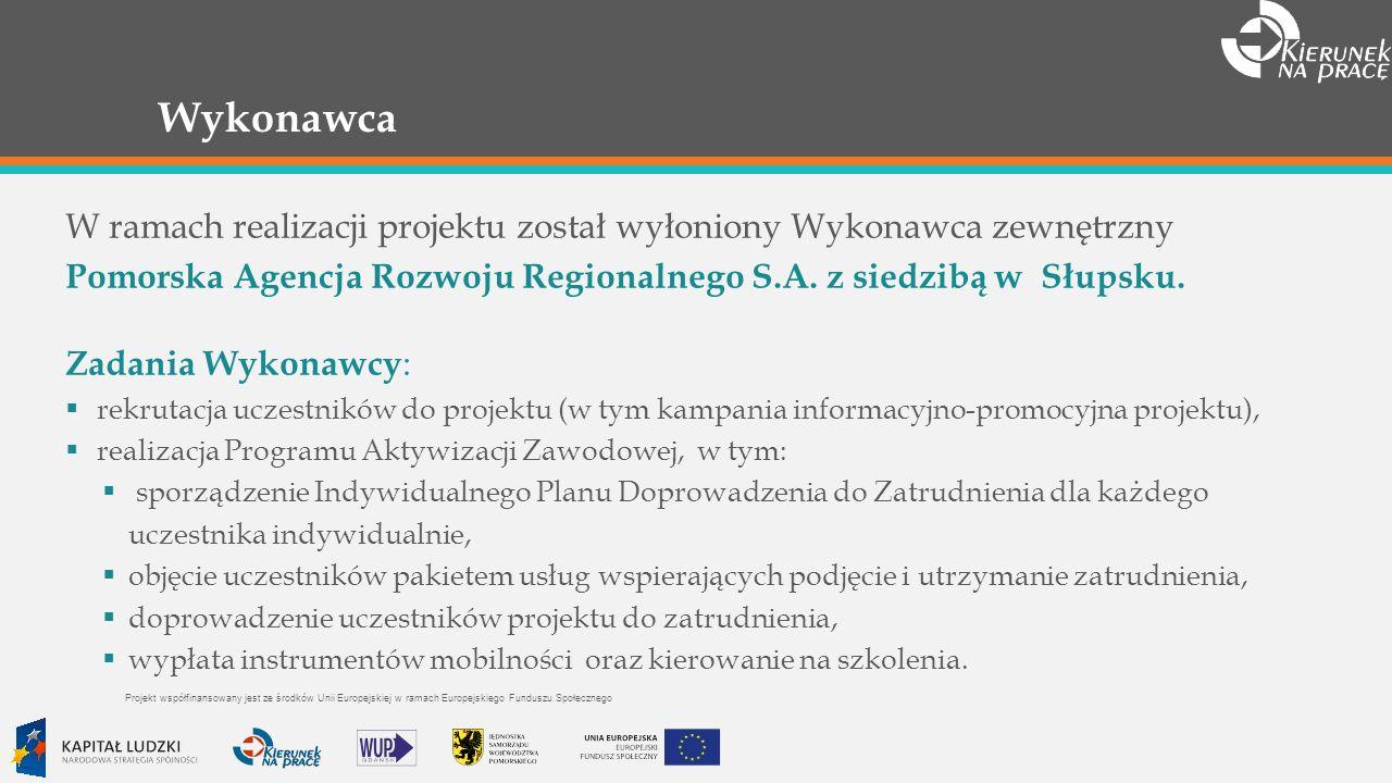 Wykonawca W ramach realizacji projektu został wyłoniony Wykonawca zewnętrzny Pomorska Agencja Rozwoju Regionalnego S.A.