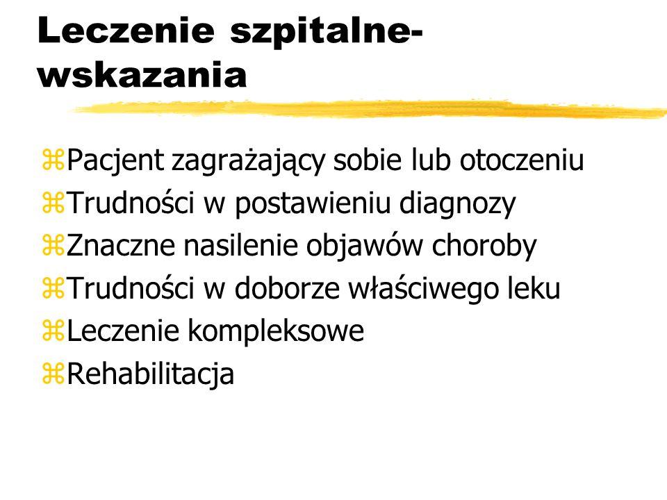 Oddział diagnostyczno- terapeutyczny F 9 III Klinika Psychiatryczna IPiN Kompleksowa terapia we wczesnym okresie schizofrenii obejmująca: zfarmakoterapię zpsychoterapię indywidualną i grupową zpsychoedukację zterapię rodzin