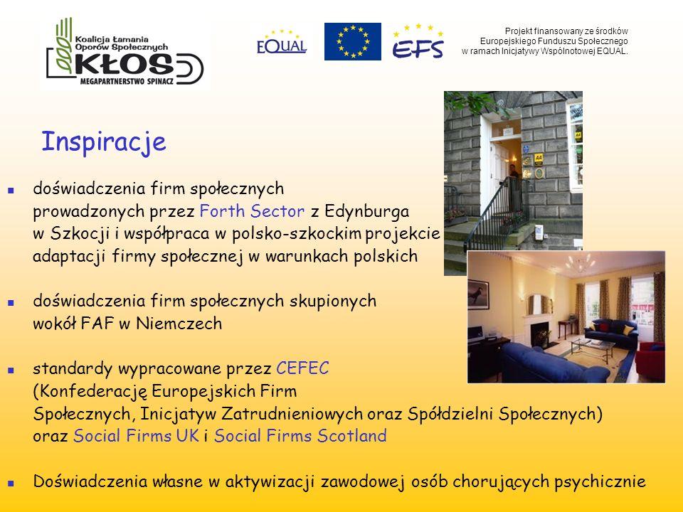 Inspiracje doświadczenia firm społecznych prowadzonych przez Forth Sector z Edynburga w Szkocji i współpraca w polsko-szkockim projekcie adaptacji fir
