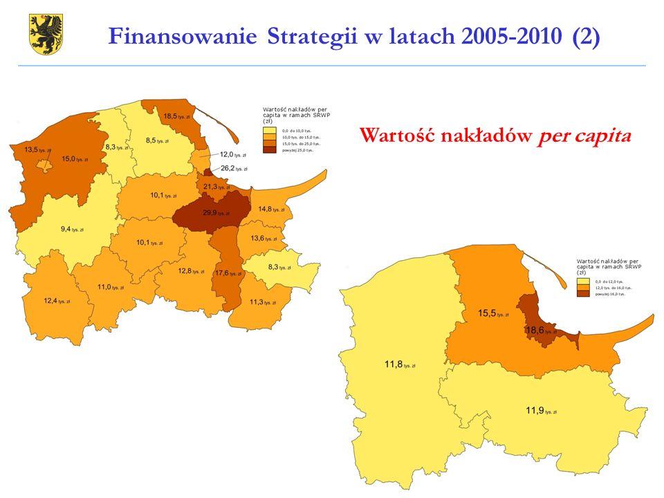 Wartość nakładów per capita Finansowanie Strategii w latach 2005-2010 (2)