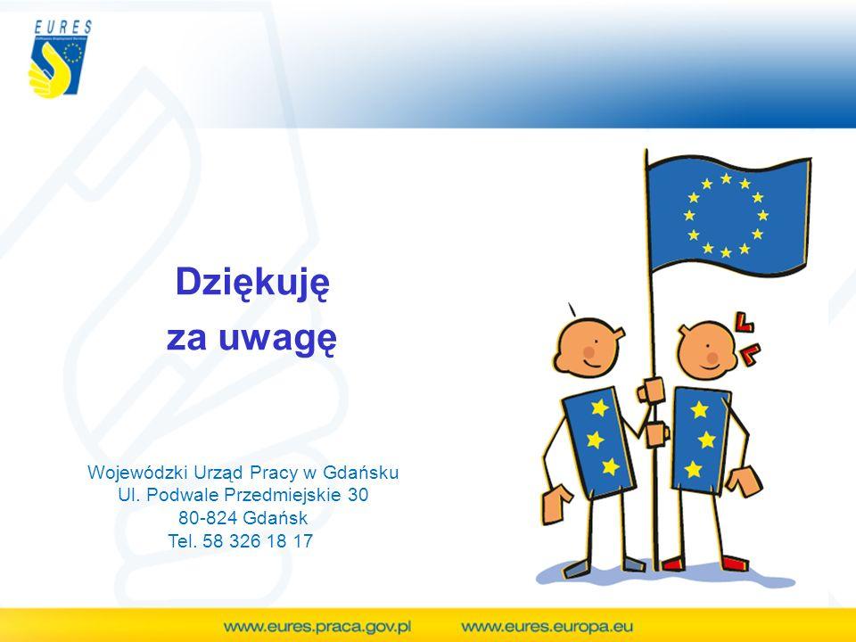 Dziękuję za uwagę Wojewódzki Urząd Pracy w Gdańsku Ul. Podwale Przedmiejskie 30 80-824 Gdańsk Tel. 58 326 18 17