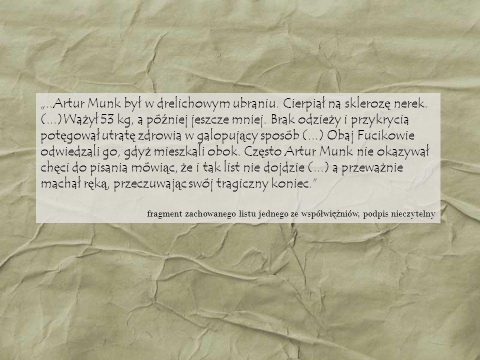 Artur Munk ż y ł 42 lata – osieroci ł dwóch ma ł oletnich synów.