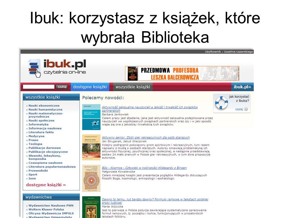 Ibuk: korzystasz z książek, które wybrała Biblioteka