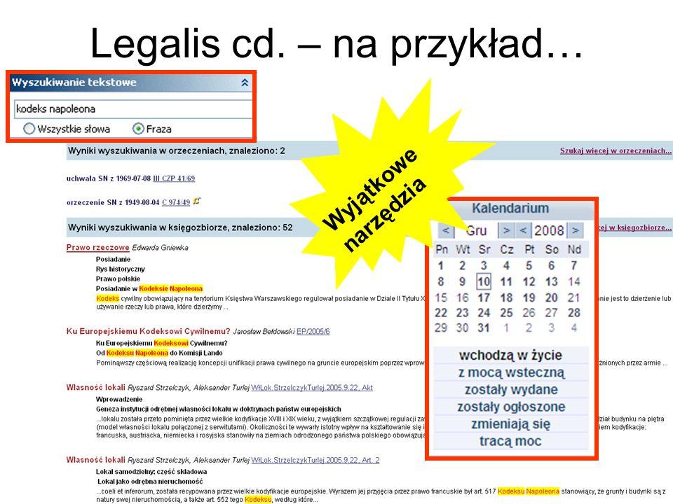 Legalis cd. – na przykład… Wyjątkowe narzędzia