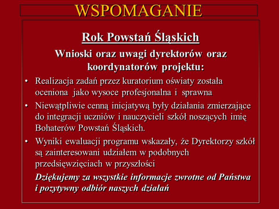 WSPOMAGANIE Kursy w ramach grantów Opolskiego Kuratora Oświaty w roku szkolnym 2011/12 W czerwcu br.