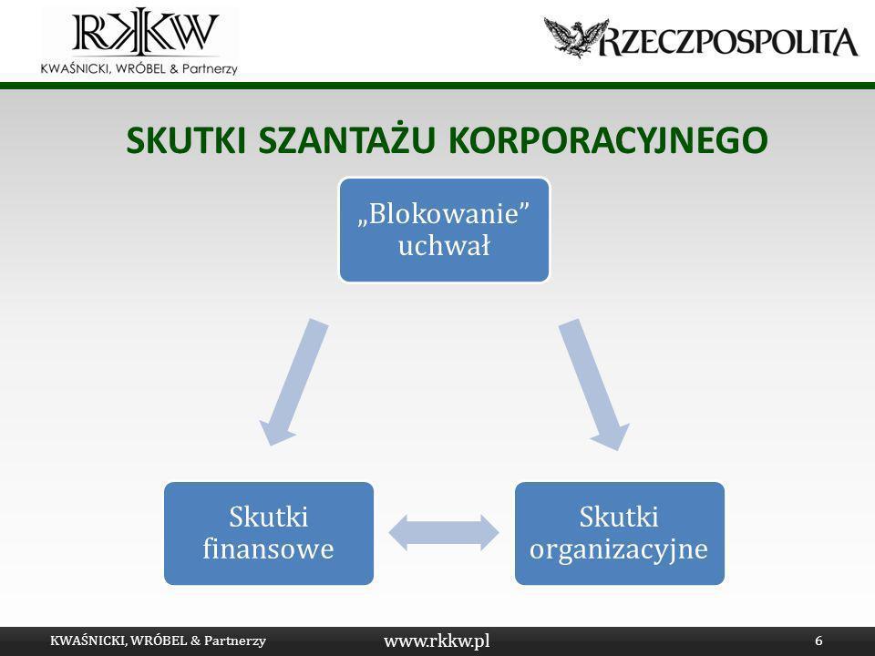 www.rkkw.pl SKUTKI SZANTAŻU KORPORACYJNEGO KWAŚNICKI, WRÓBEL & Partnerzy6